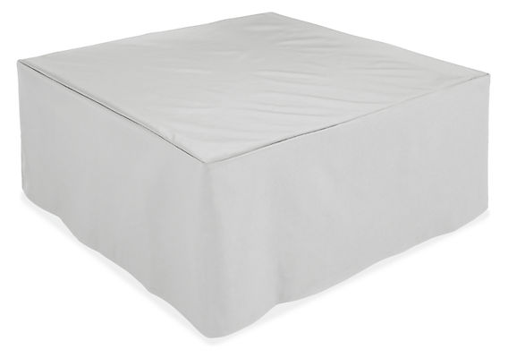 Adara fire table in furniture cover