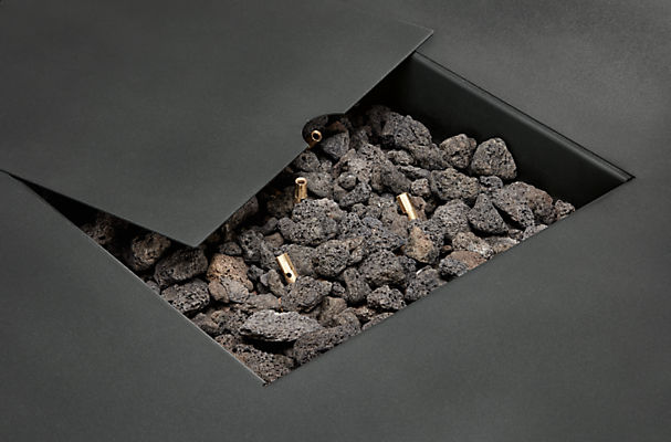 Detail of Adara outdoor fireplace