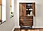 Detail of Adrian storage cabinet in walnut with right door open