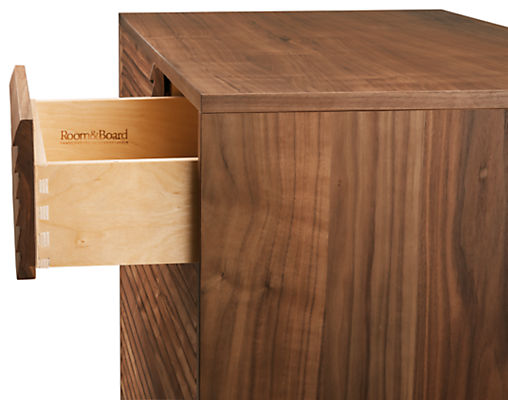 Side detail of open Adrian drawer
