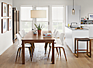 Andover Walnut Table with Pike Wood Chair