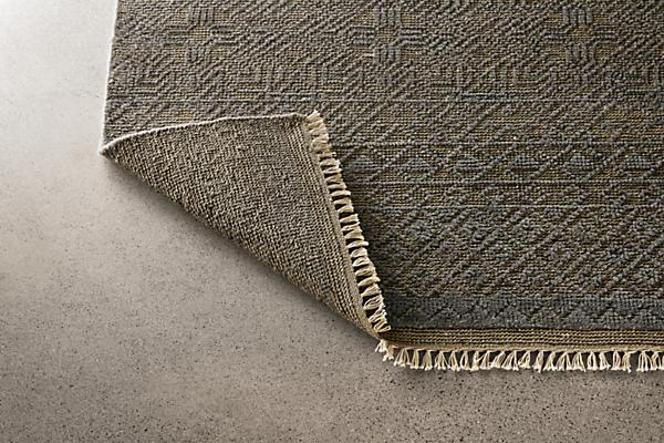 Detail of Anu rug in slate