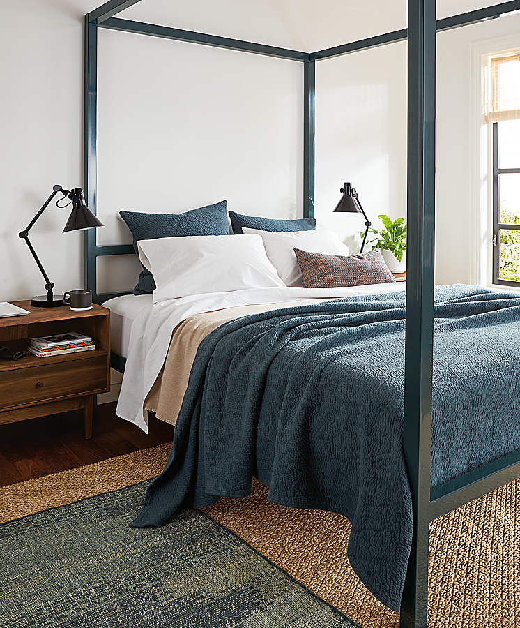 Architecture Bed in Slate Finish