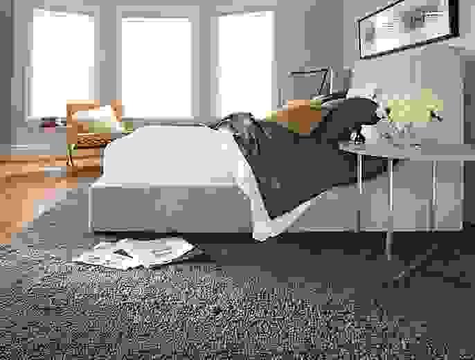 Side detail of Arden high loop bedroom rug