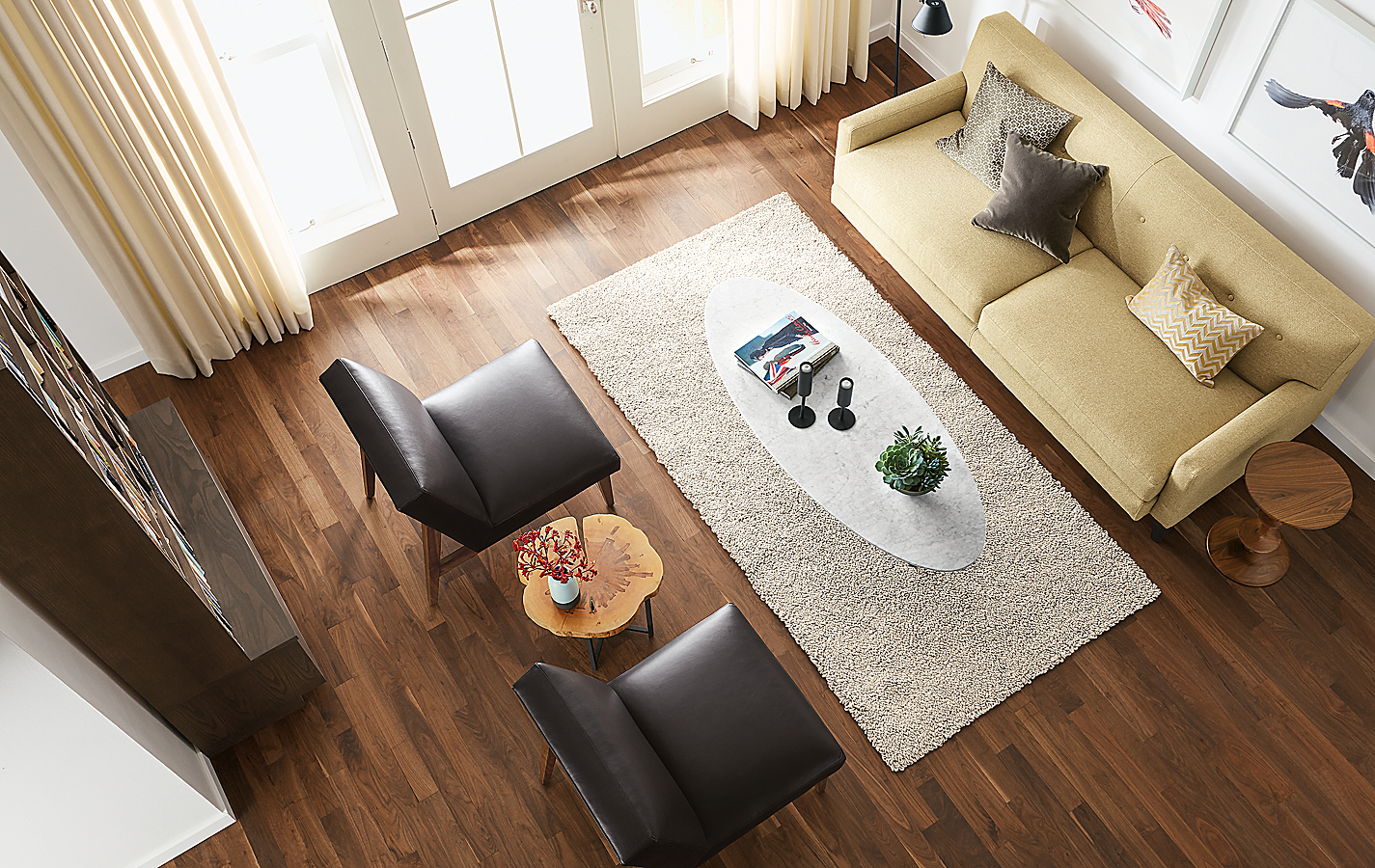 Soto Coffee Table with Parks End Tables