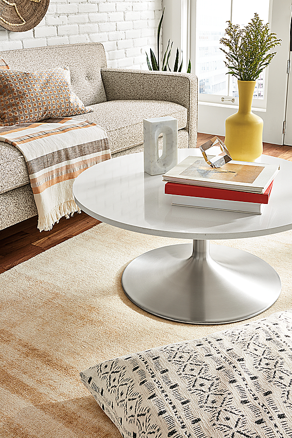 Aria Coffee Table in Stainless Steel