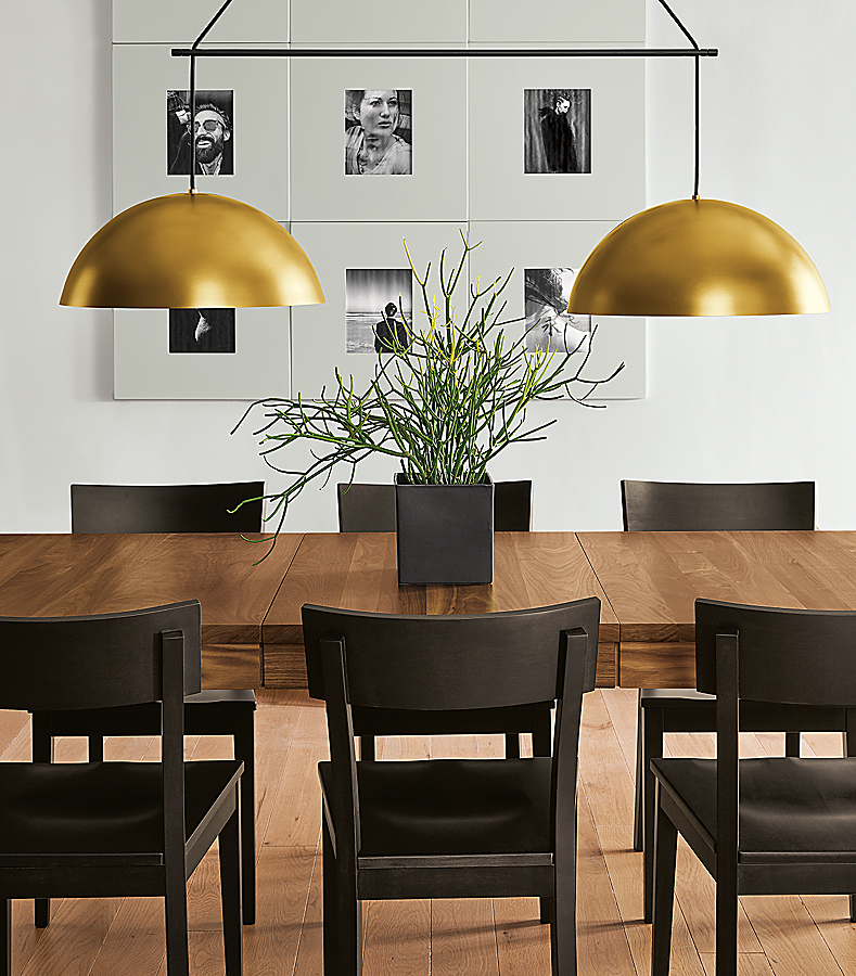 Doyle Chairs in Charcoal with Walnut Table