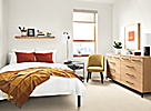 Small Space Bedroom with Baker Dresser
