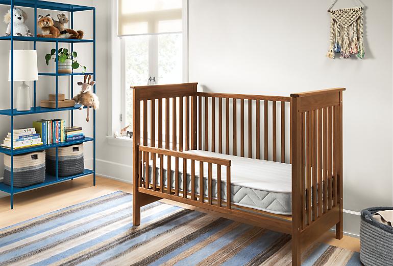 Detail of Basic crib mattress in crib in kids bedroom