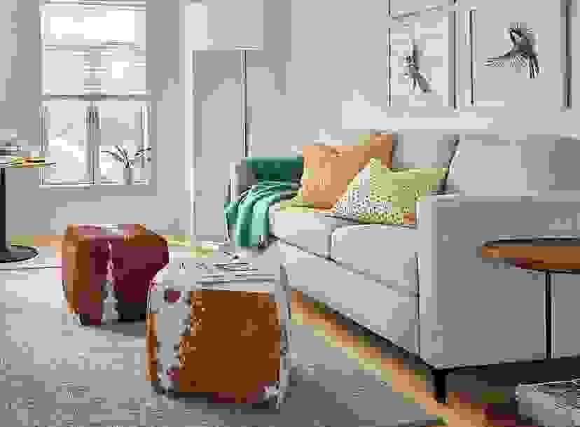 Berin Sleeper Sofa in Small Space