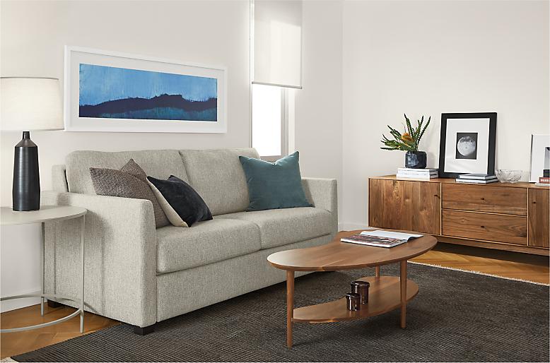 Berin sleeper sofa in small living room
