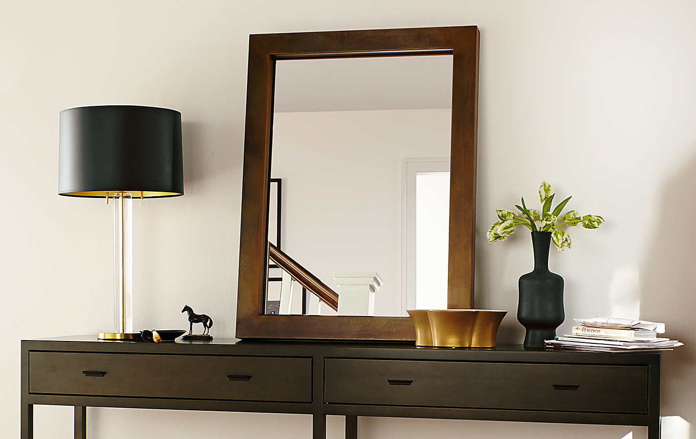 Detail of Berkeley console table in entryway