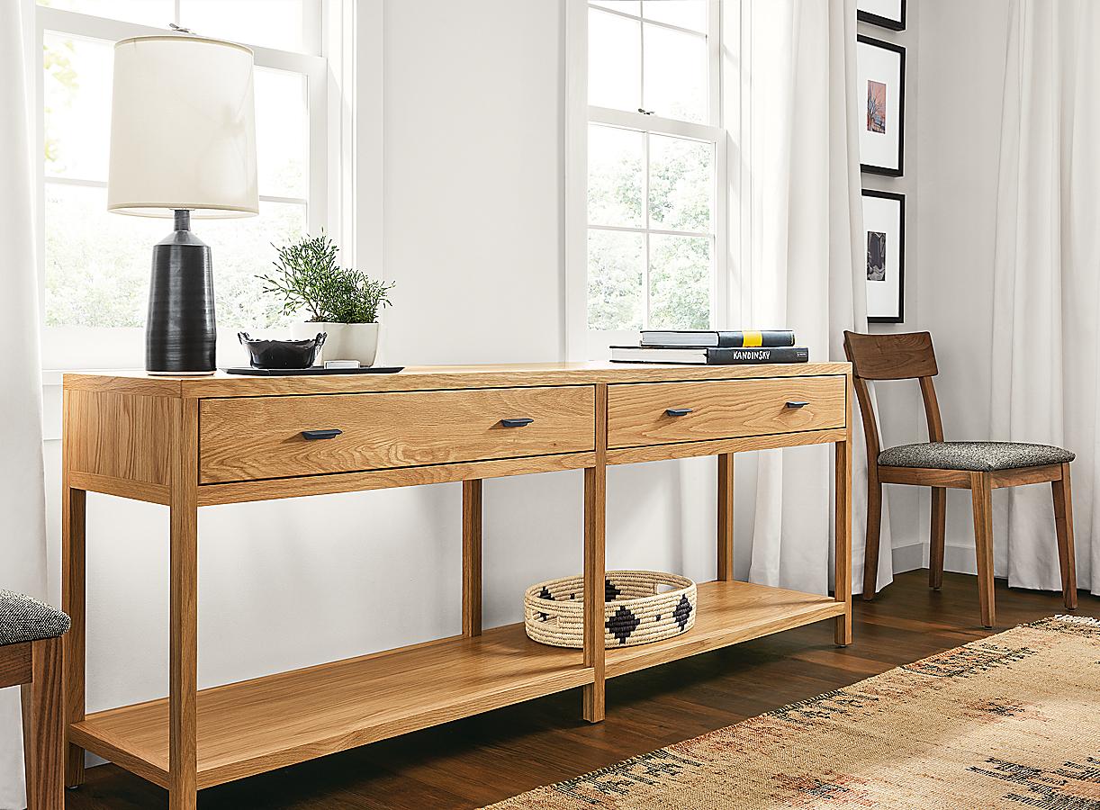Berkeley Console Table in White Oak