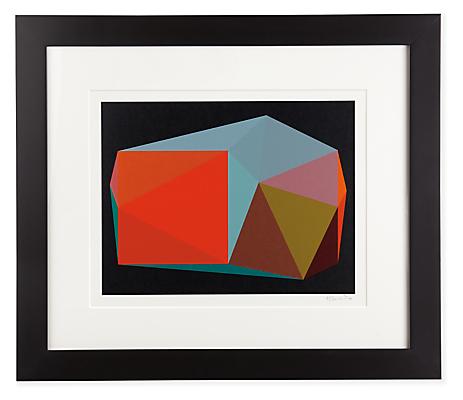 Front view of Henri Boissiere, Triangulation No. 3 silkscreen