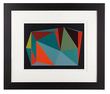 Front view of Henri Boissiere, Triangulation No. 4 silkscreen