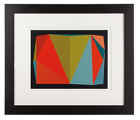 Front view of Henri Boissiere, Triangulation No. 5 silkscreen