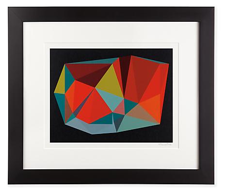 Front view of Henri Boissiere, Triangulation No. 6 silkscreen