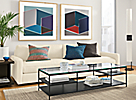 Bowen Coffee Table with Clear Glass Top