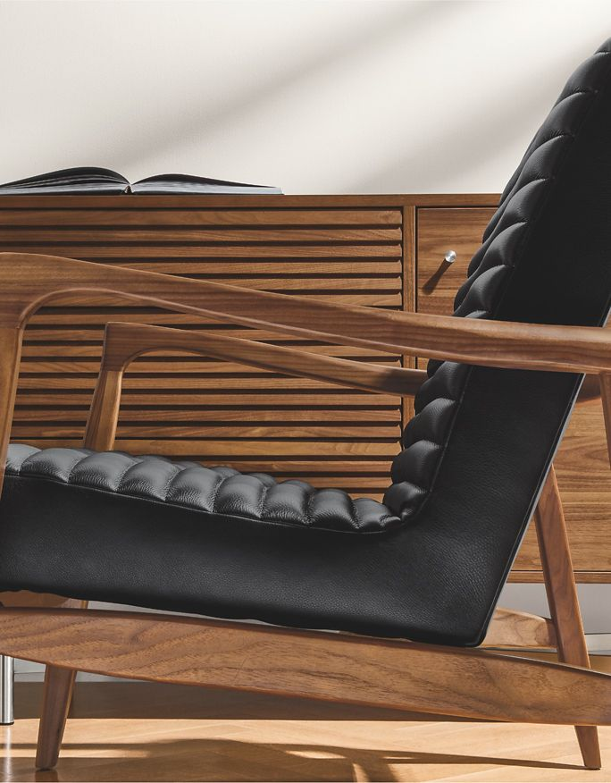 Shop Callan Leather Chair & Ottoman