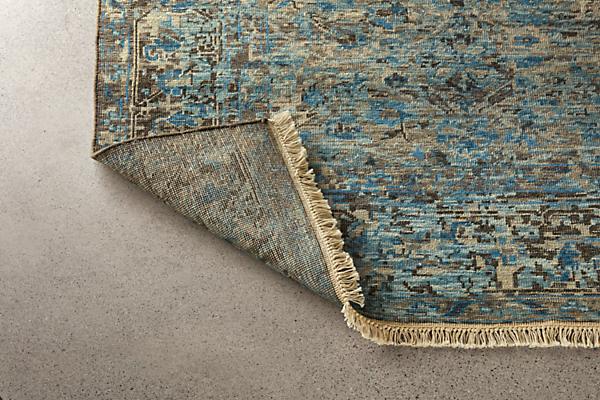 Detail of Caspian 8x10 blue rug