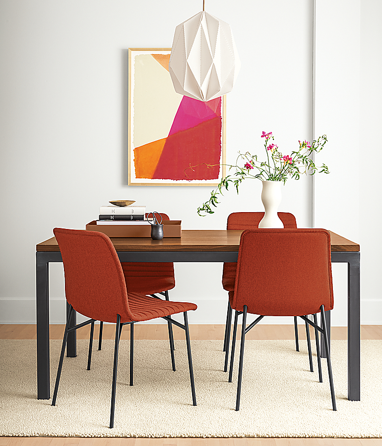 Cato Chairs in Medley Spice Dining Room