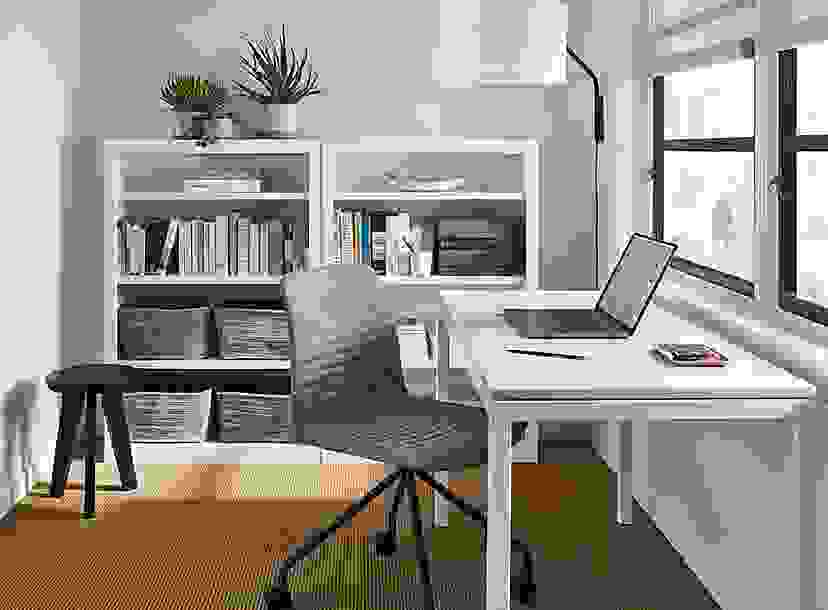 Small Office with Parsons Desk & Cato Chair