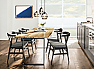 Chilton Spalted Sugarberry Table with Evan Chairs