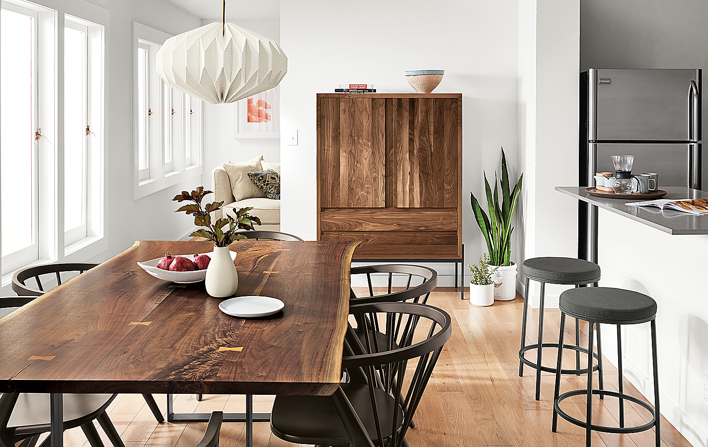 Chilton Walnut Table and Soren Chairs