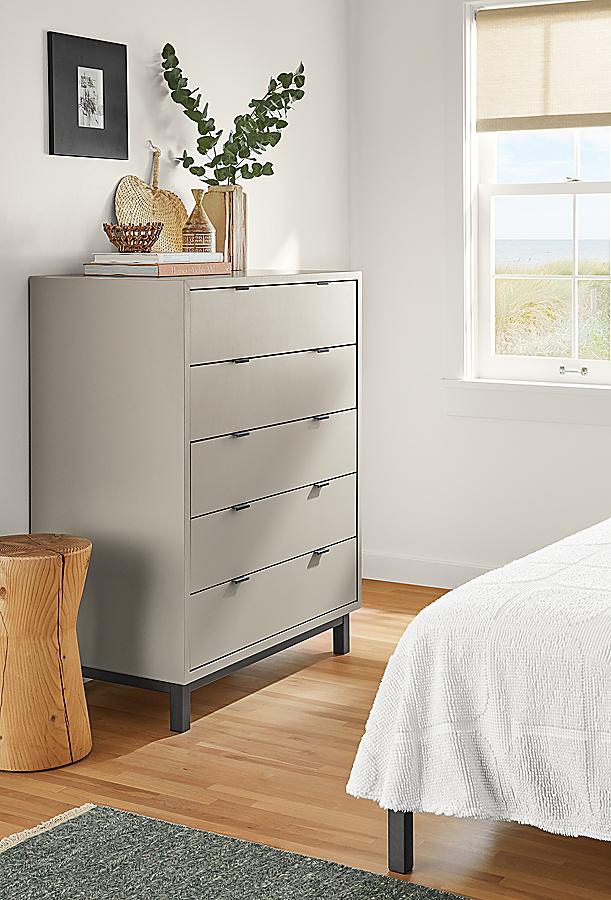 Copenhagen Dresser in Taupe in Bedroom