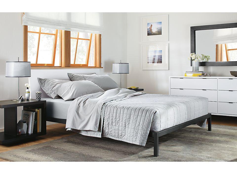 Side view of Copenhagen bed and dresser