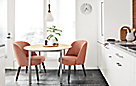 Parsons Table with Maple Top and Cora Chairs