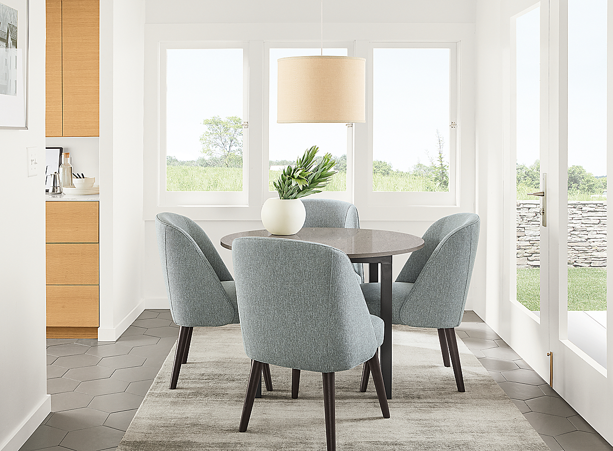 Cora Chairs in Small Space Dining Room