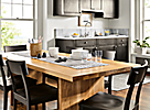 White Oak Table with Charcoal Chairs Dining Room