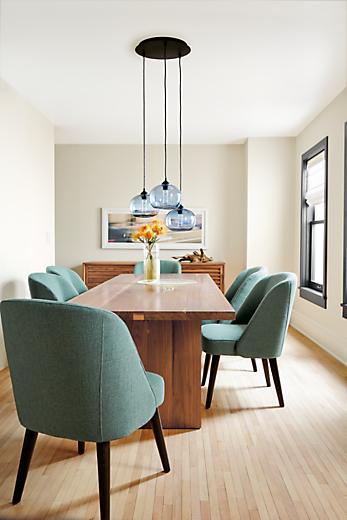 Dining room with Corbett table in walnut