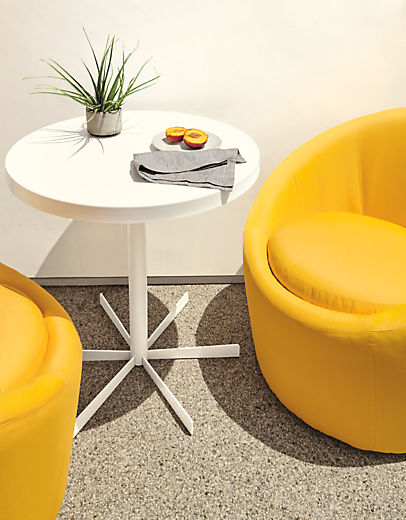 Top view of Crescent outdoor swivel chairs