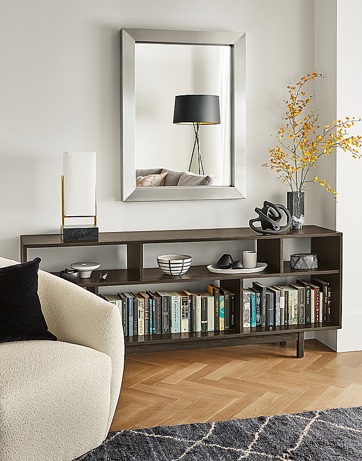 Dahl Console Bookcase in Charcoal