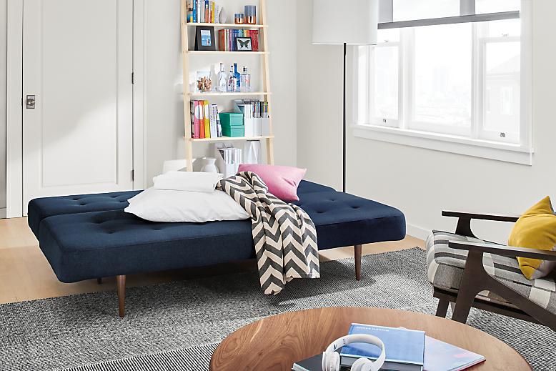 Open view of Deco convertible sleeper sofa