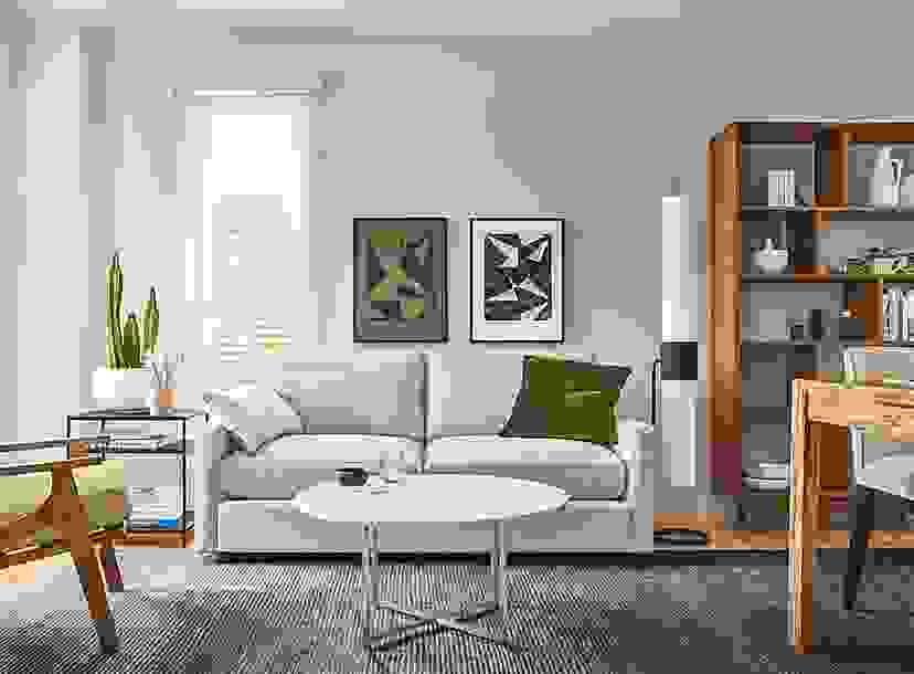 Small Space Living Room with Linger Loveseat
