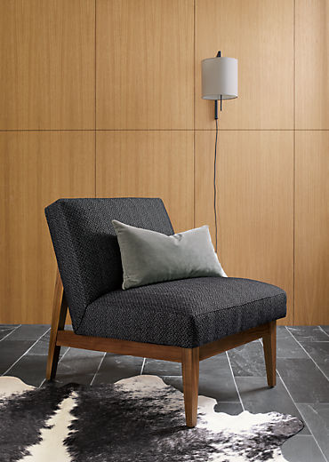 Side detail of Edwin accent chair