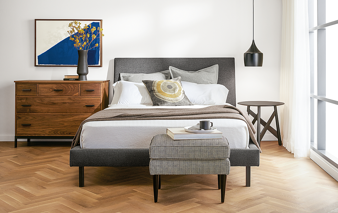 Bedroom with Walnut & Charcoal Wood Mixed