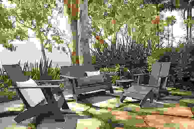 Emmet outdoor sofa in grey