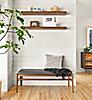 Float Wall Shelves in Walnut