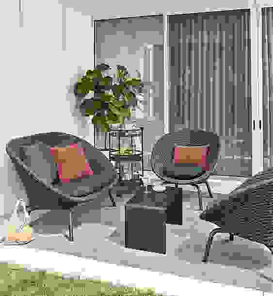 Small Space Outdoor with Flet Chair & Sofa