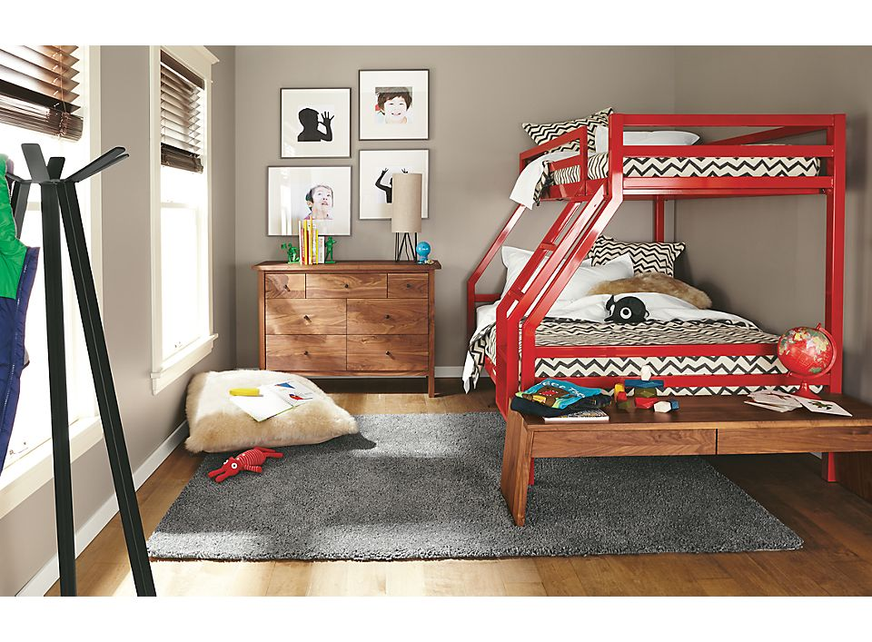 Detail of Fort duo bunk bed in colors
