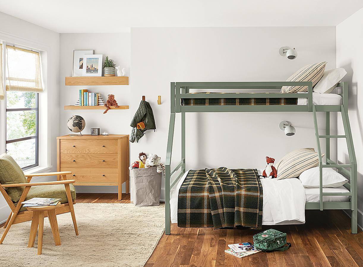 Fort Bunk Beds in Scandinavian Style Bedroom