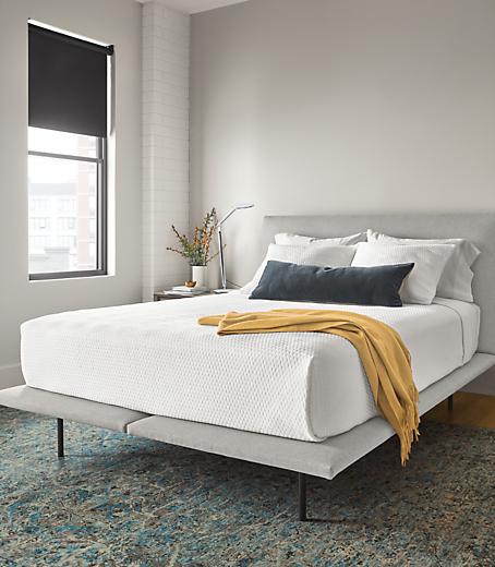 Detail of Hanson bed in modern bedroom