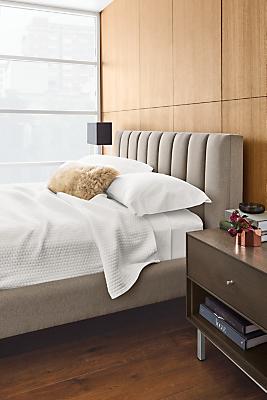 Detail of Hartley channeled headboard bed