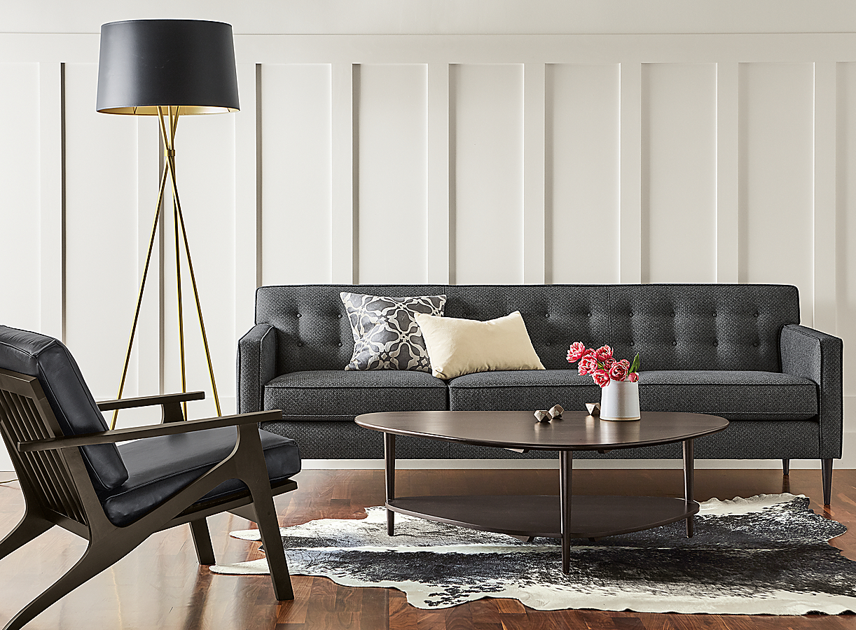 Gibson Coffee Table in Charcoal in Living Room
