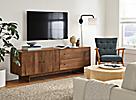 Hudson Walnut Media Cabinet Living Room