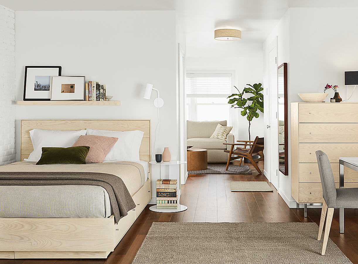 Scandanavian Bedroom with Hudson Collection